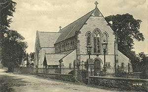 sepia image of St Margaret's Church Juniper Green